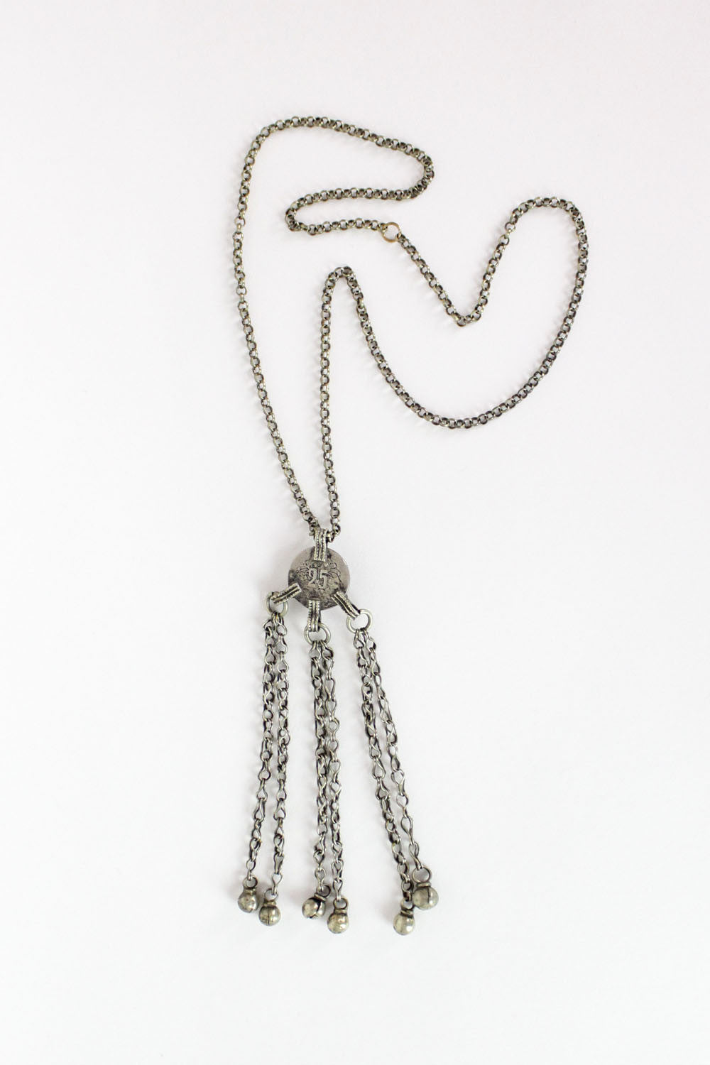 Triple Tassel Long Pendant Necklace