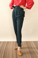 Teal Belted Pant S