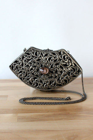 Dreamy Embroidered Floral Purse