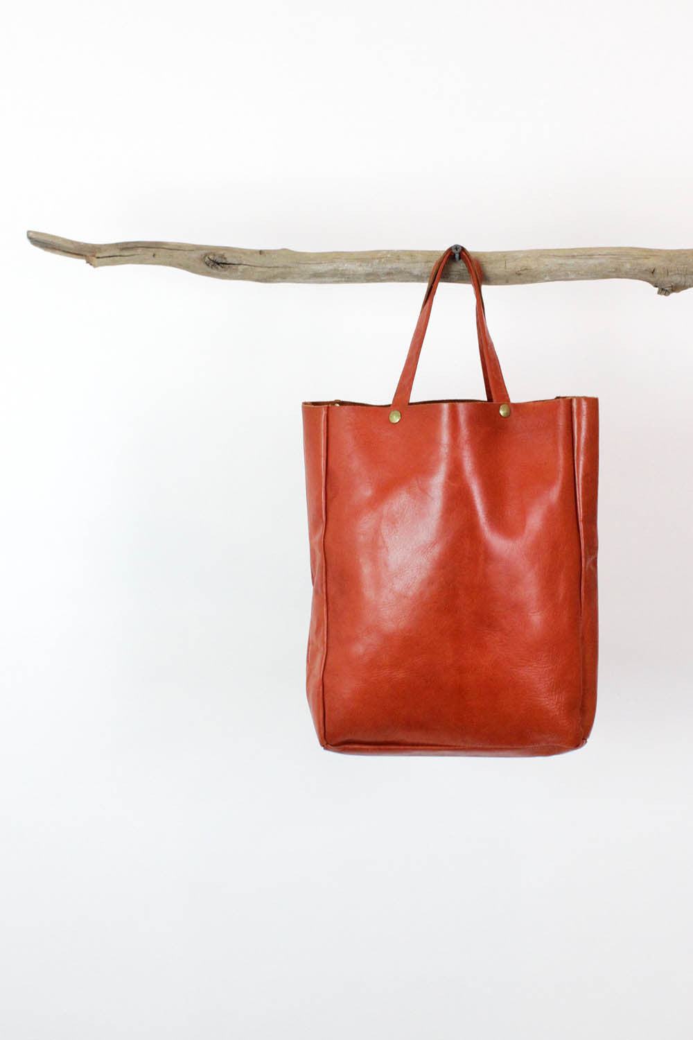 Rust Leather Lunch Tote