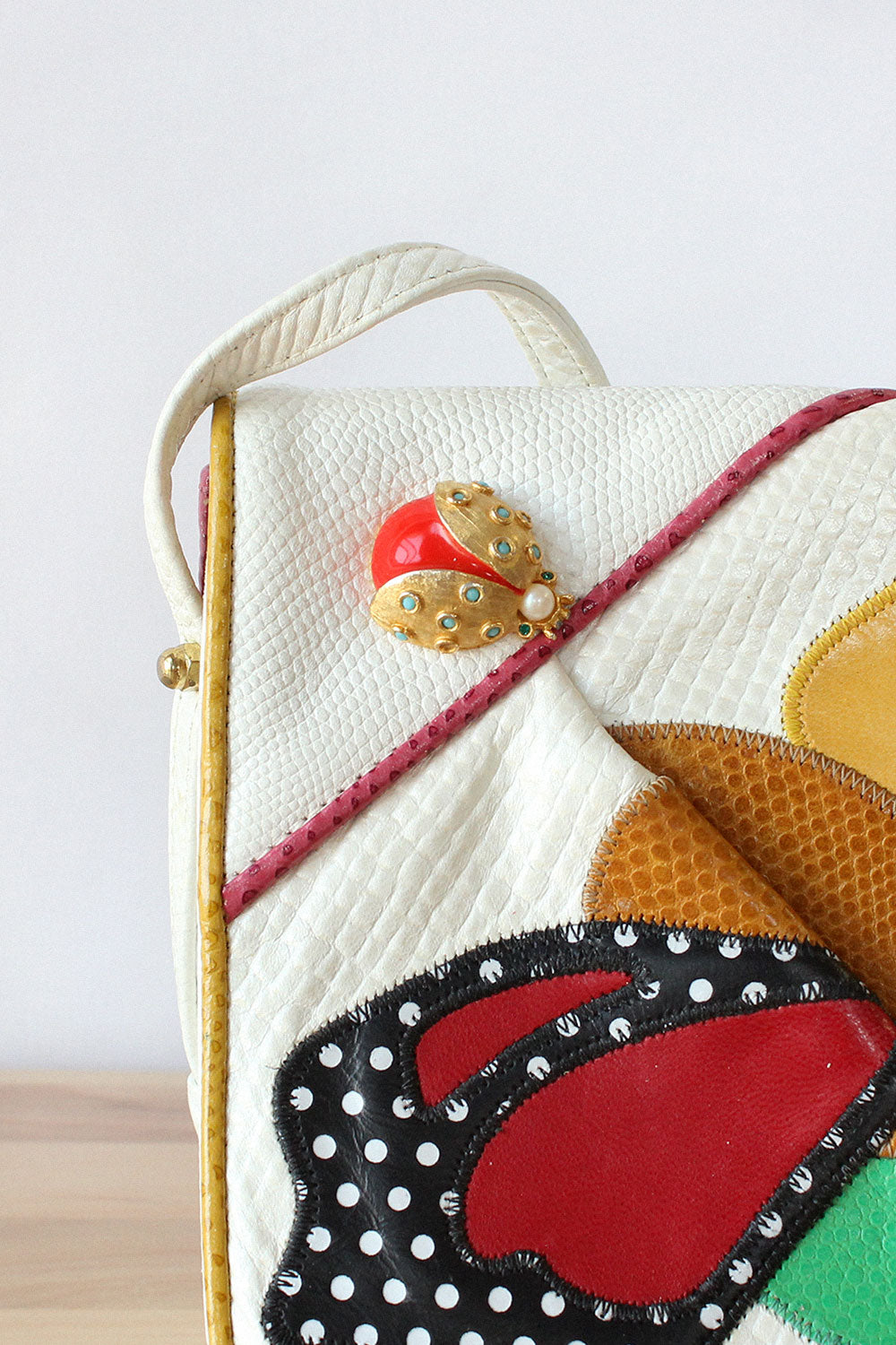 Sharif Ladybug Leather Bag