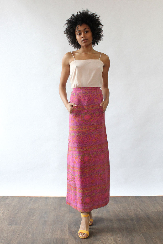 Tapestry Kangaroo Pocket Skirt XS