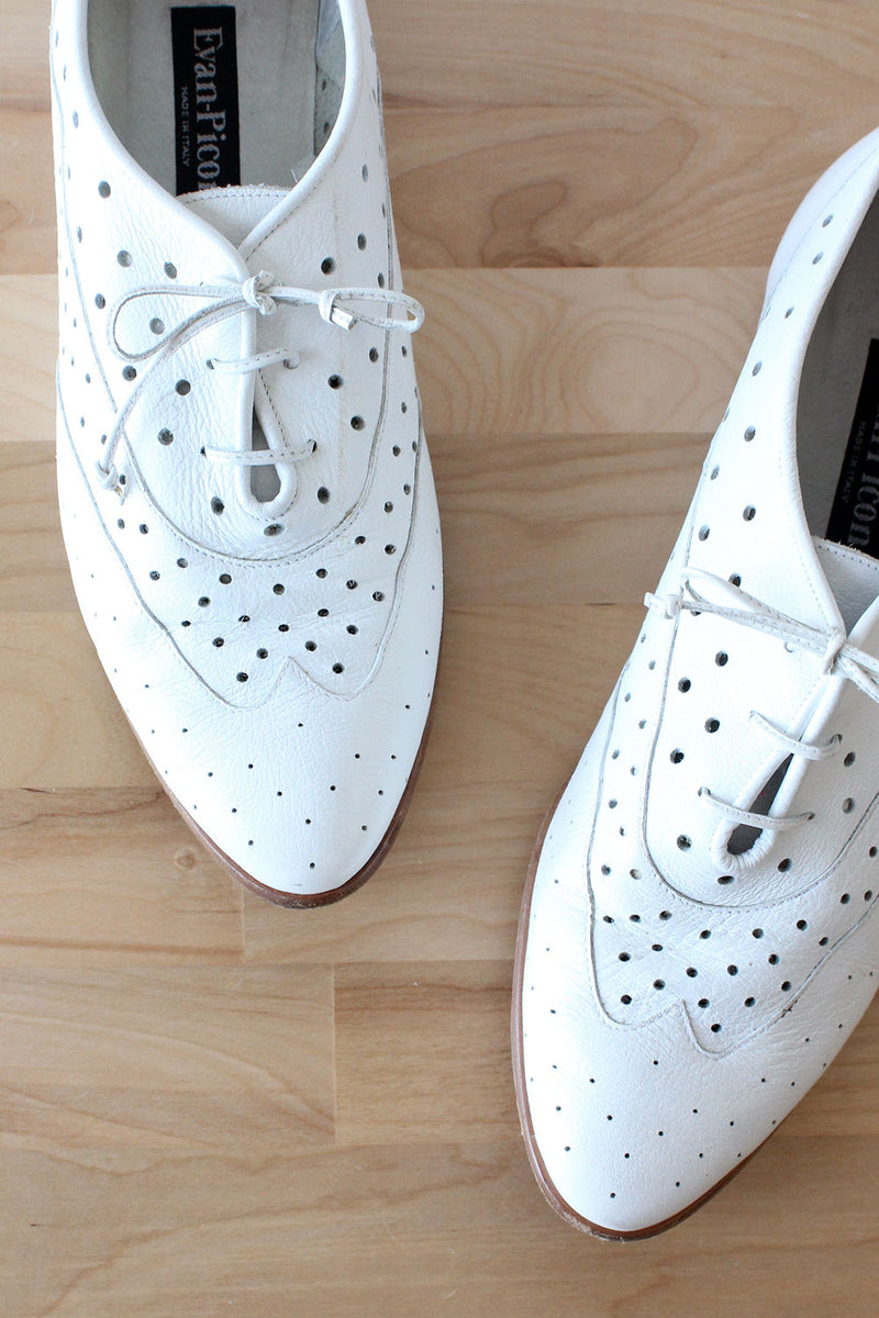 Evan Picone Perforated Oxfords 10