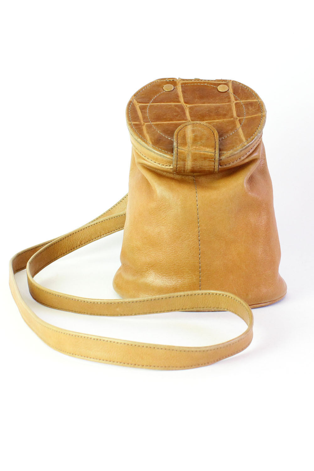 Honey Leather Bucket Bag