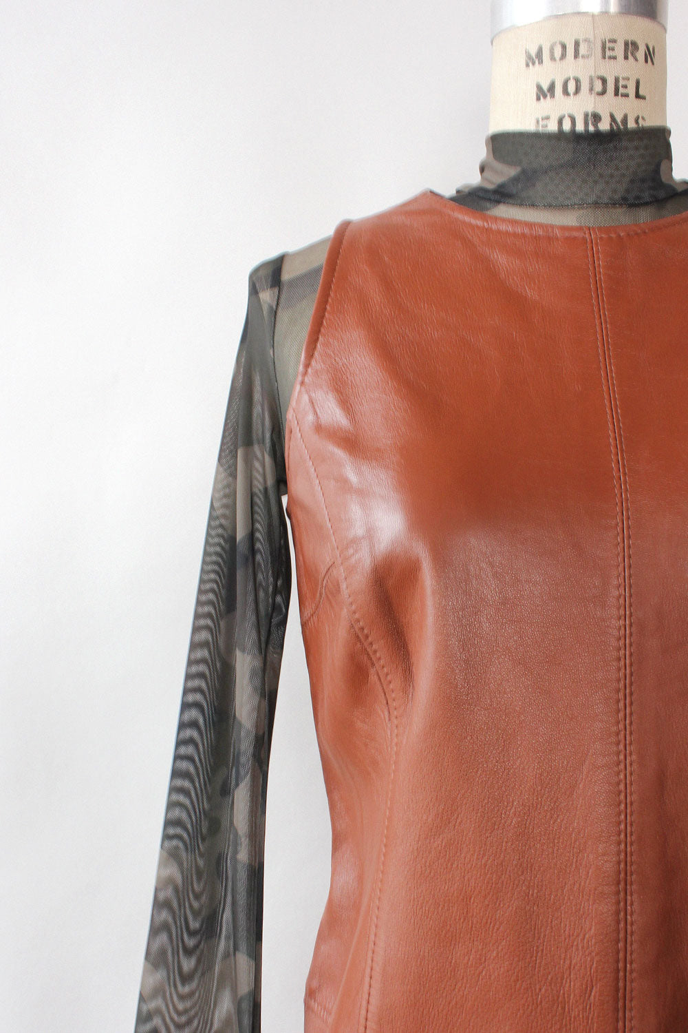 Toffee Leather Shift S/M