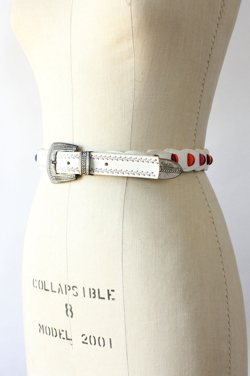 Ginnie Beaded Leather Belt