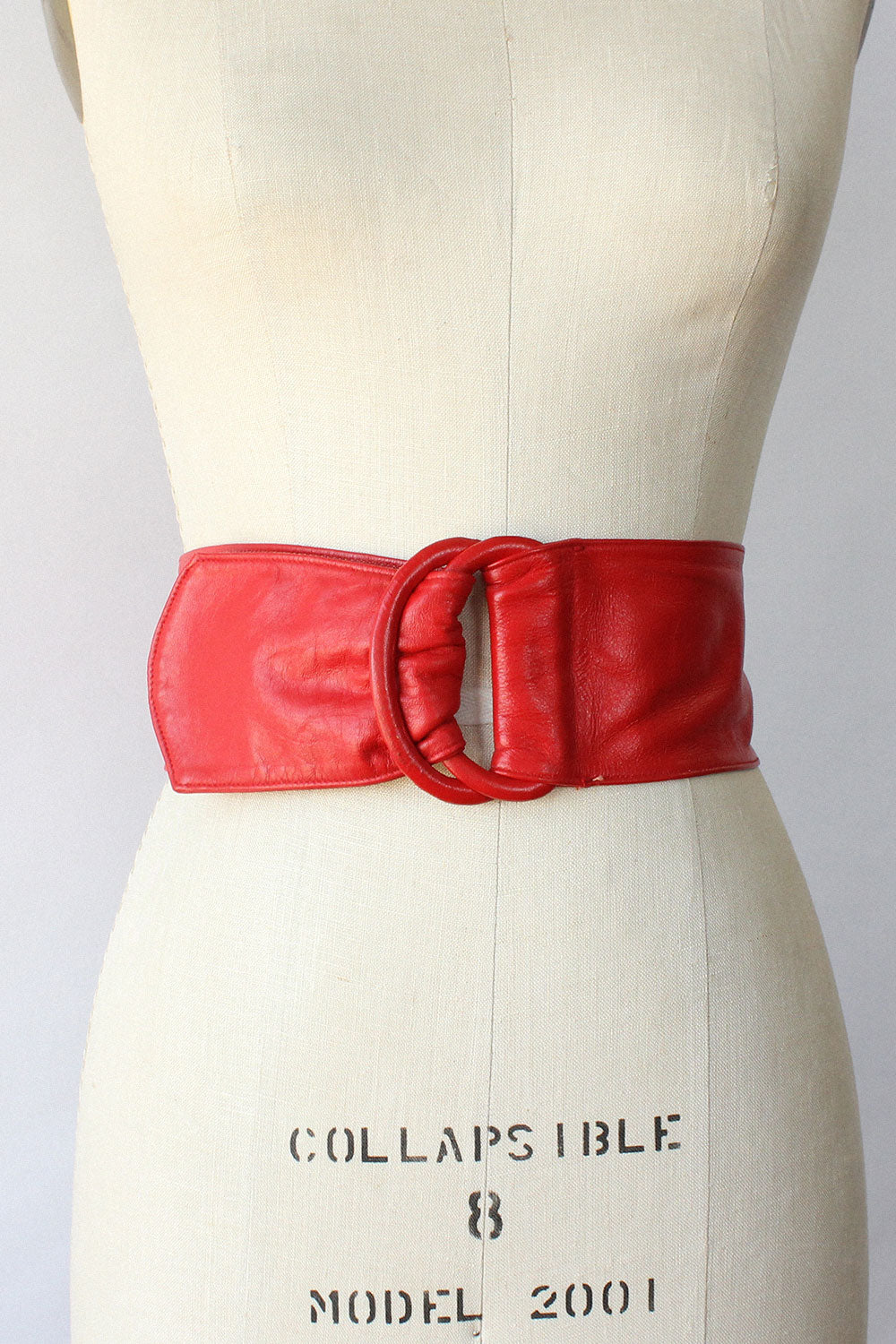 Moskowitz Cherry Leather Belt