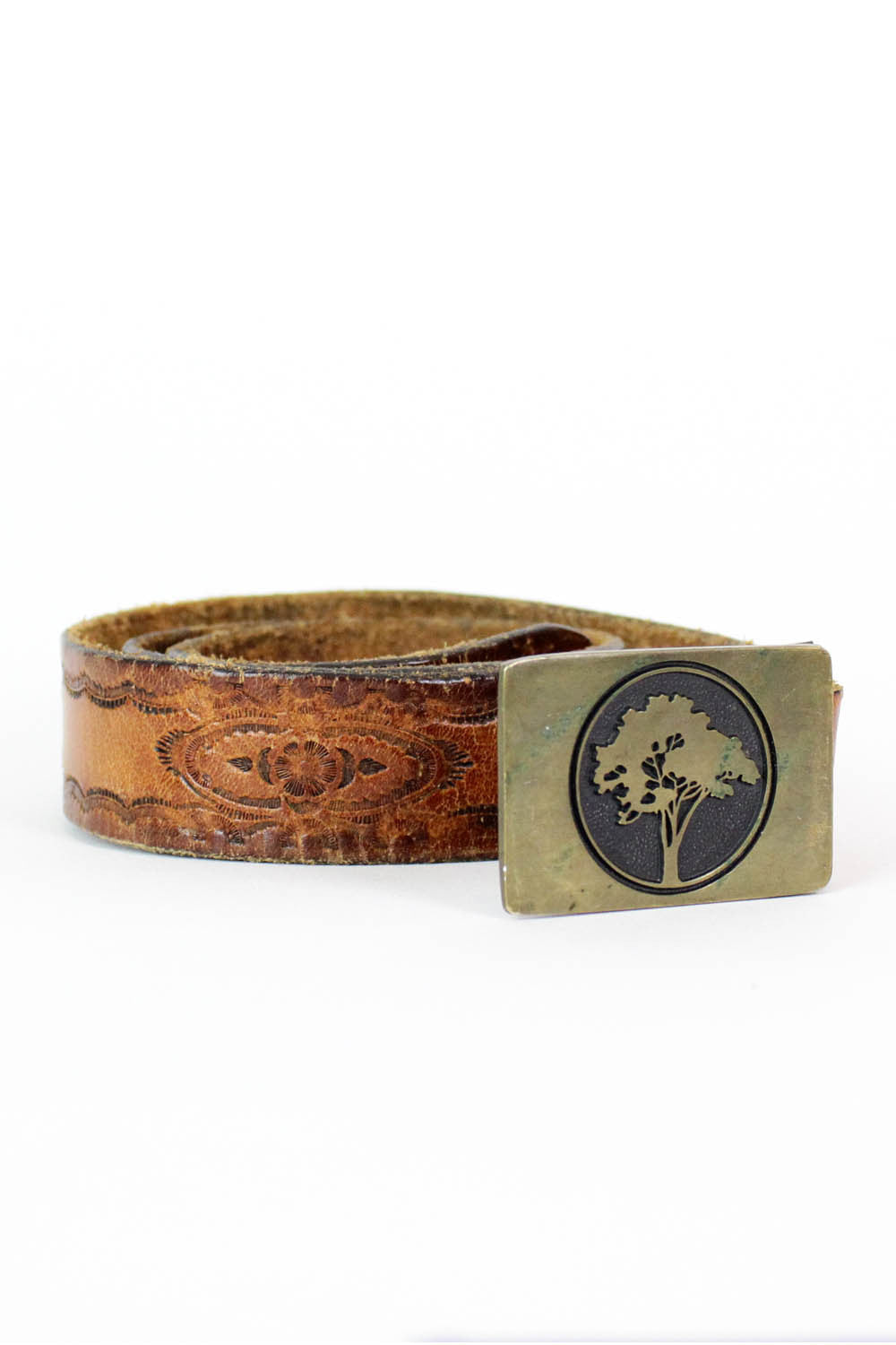 Tree of Brass Tooled Belt S/M/L