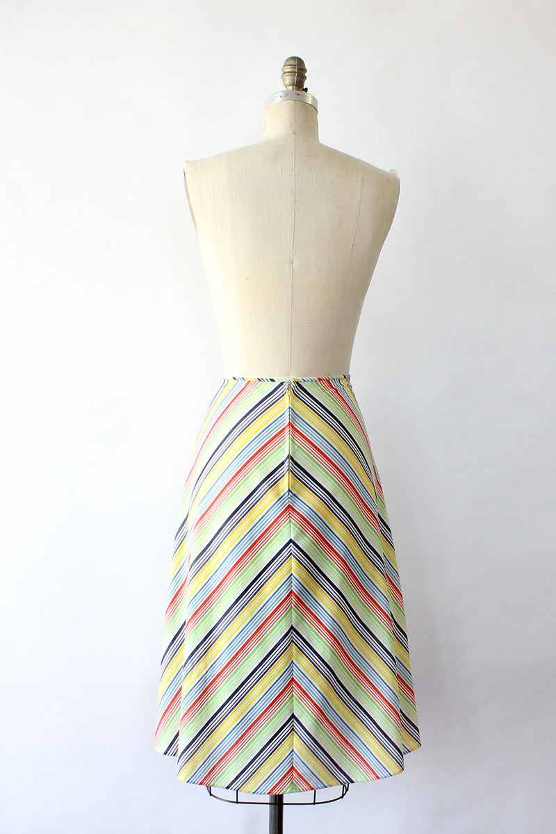 Rainbow Chevron Skirt S