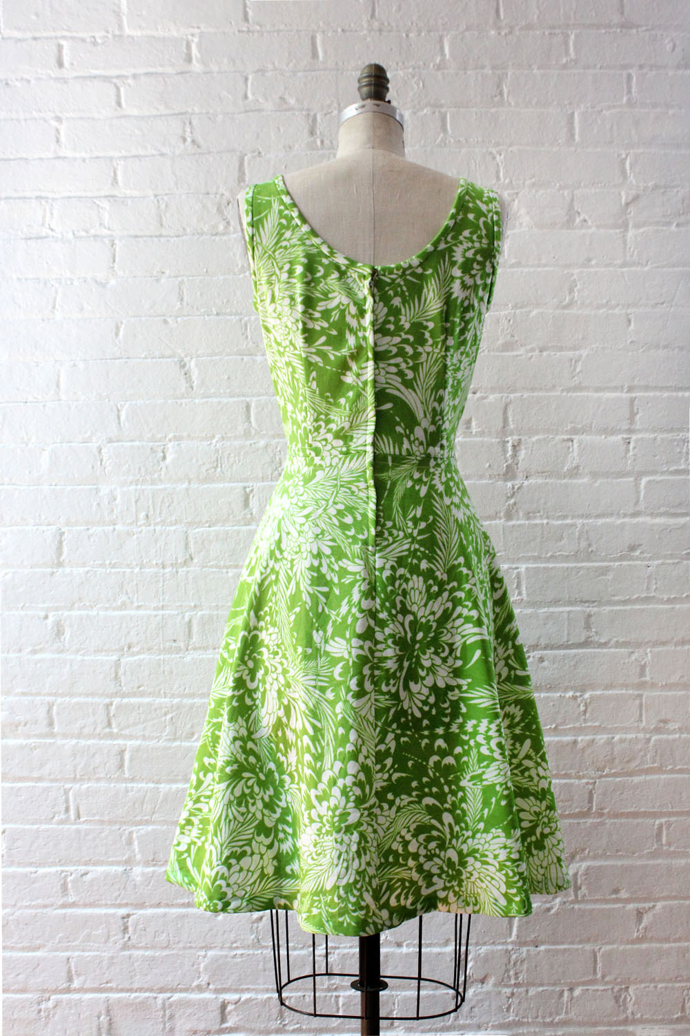 Lime Green Fit Flare Dress M/L