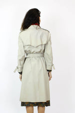 khaki trench coat