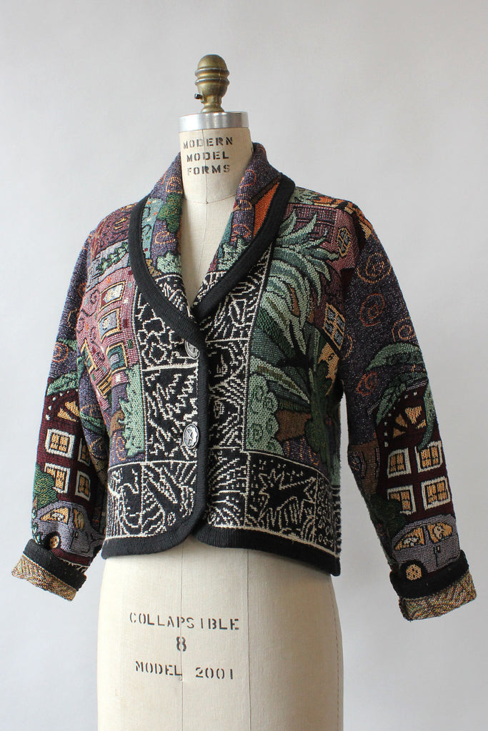 City Life Novelty Tapestry Jacket S/M