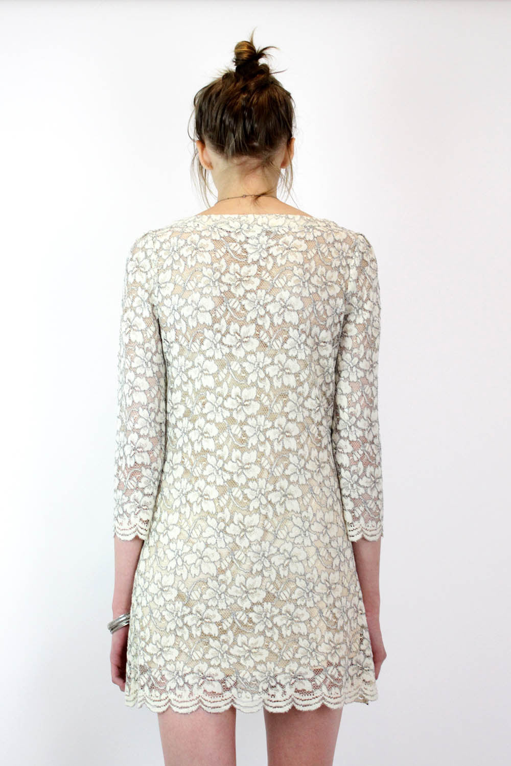 DVF long sleeve lace dress