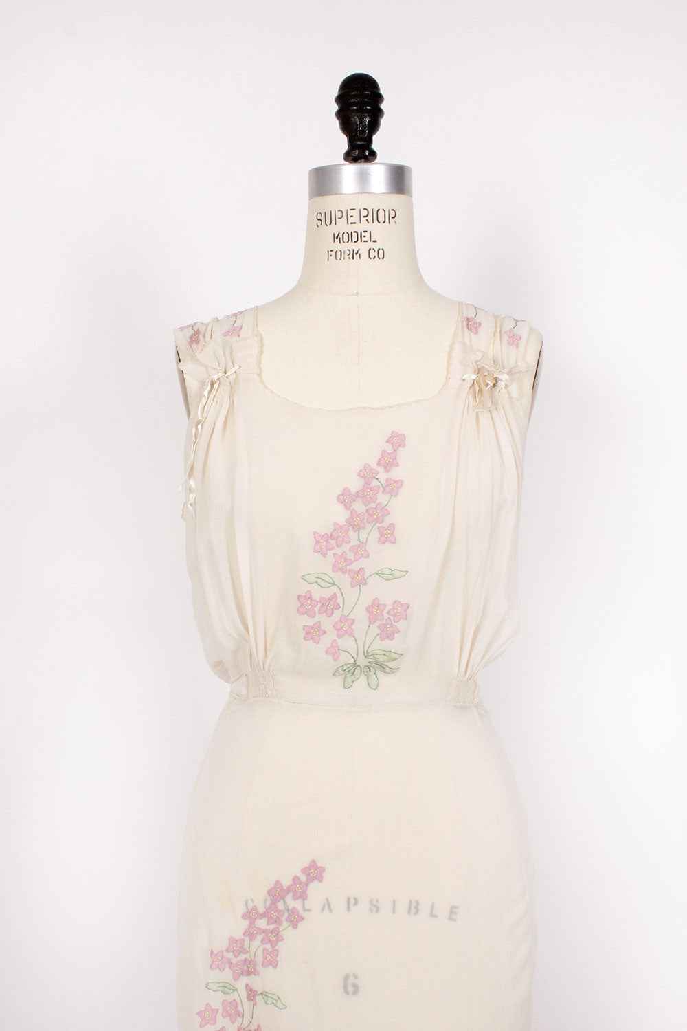 30s Sheer Ivory Gown S