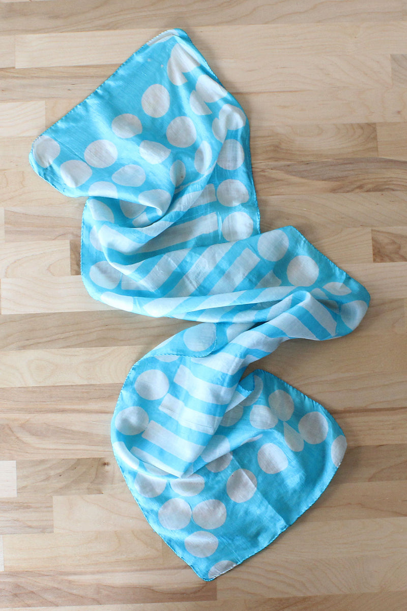 Sky Dot Silk Scarf