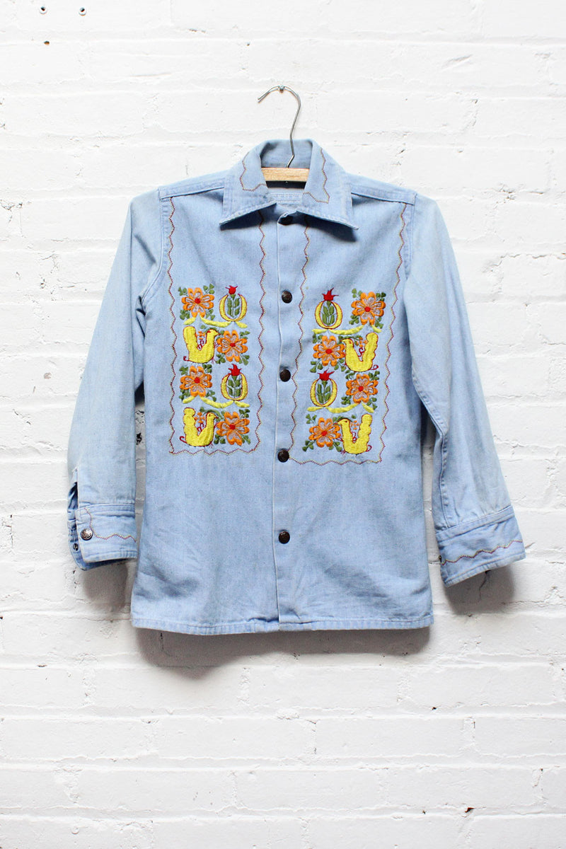 Haight Embroidered Denim Shirt XS/S