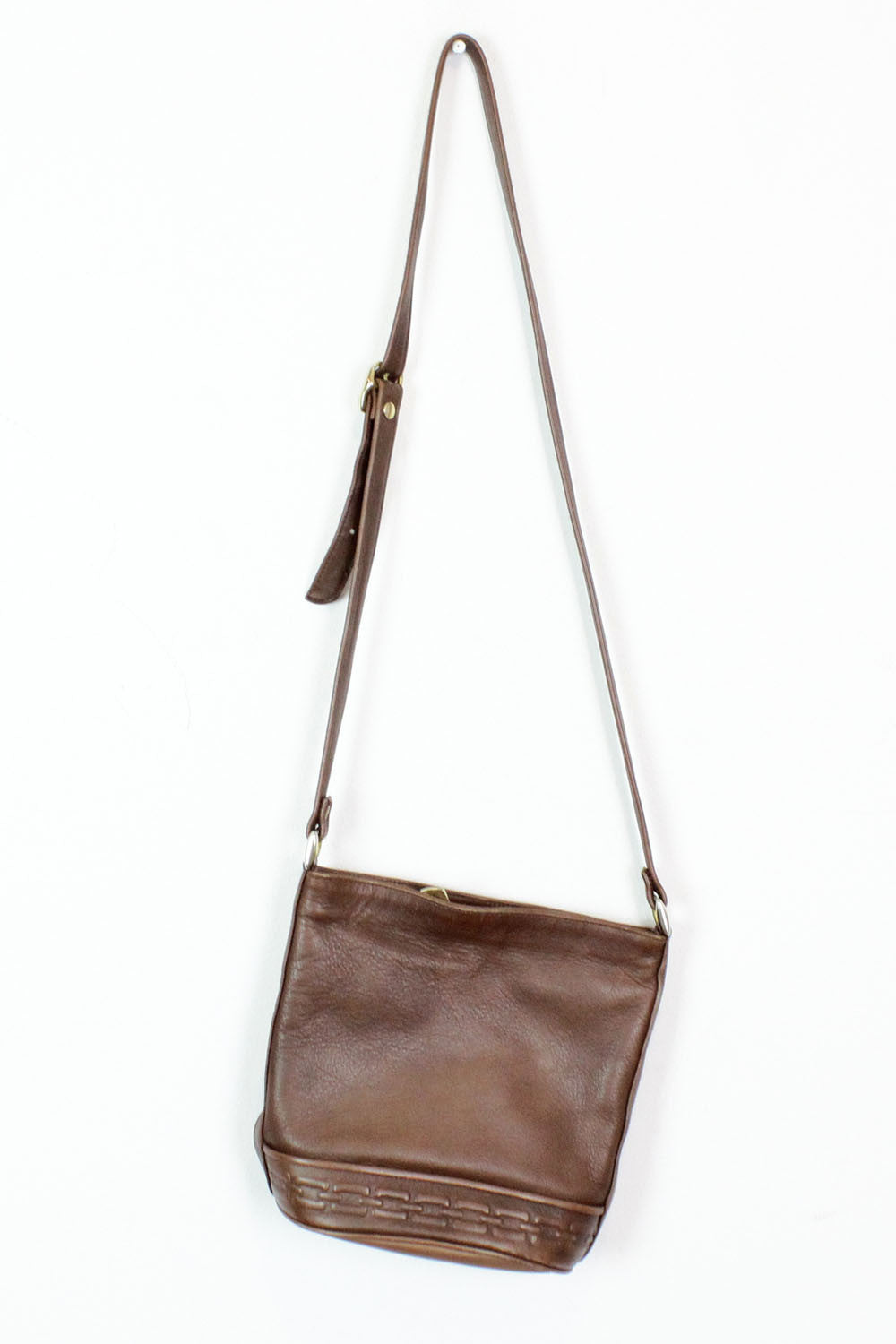 Chain Leather Bucket Bag