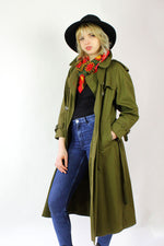 Olive Green Military Trench M