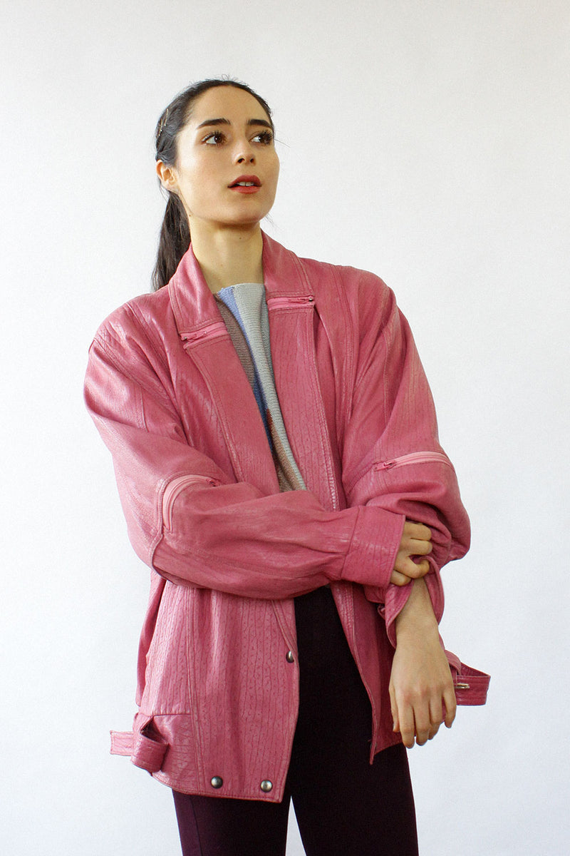 Pink Lady Leather Jacket S/M
