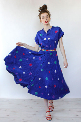 Polka Dot Flare Dress S/M
