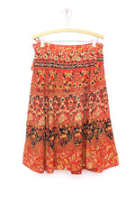 Camel Fields Wrap Skirt