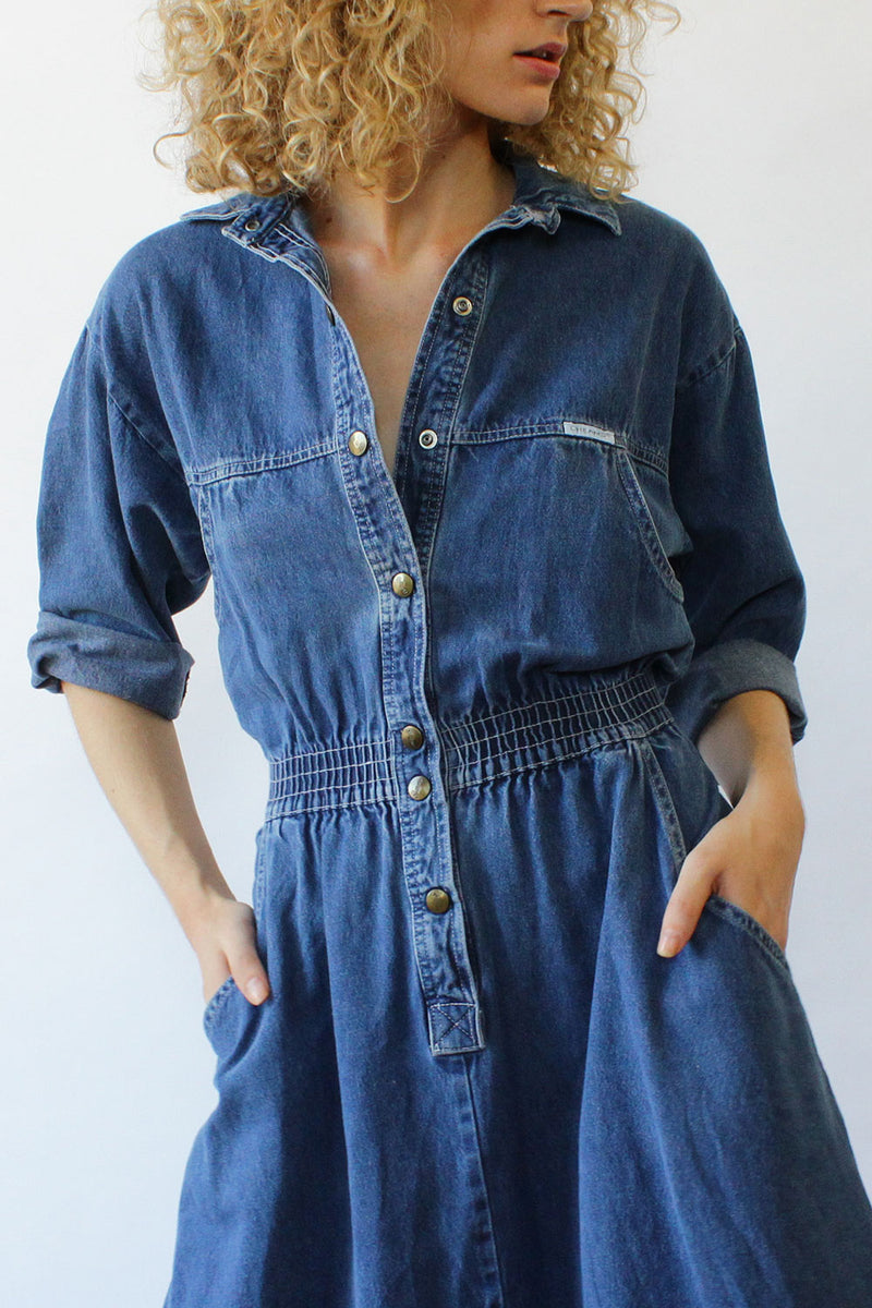 Dreams Denim Flare Dress S/M