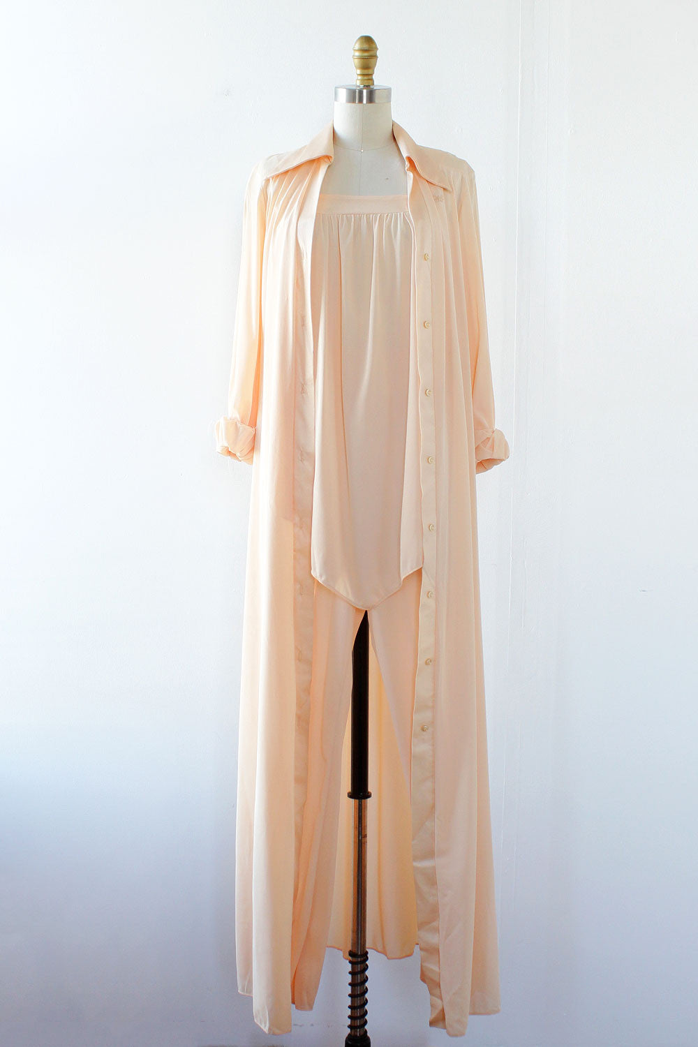 DVF Peach 3 Piece Pajama Set