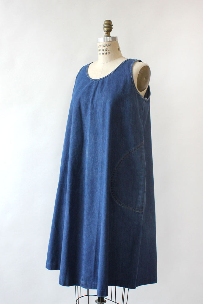 Dark Denim Tent Dress M/L