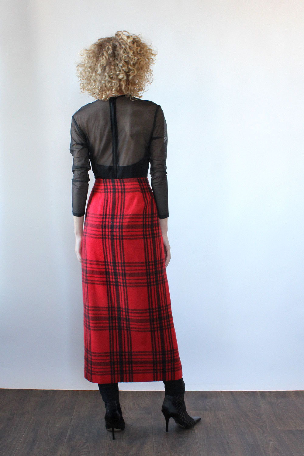 Cozy Plaid Blanket Skirt M/L