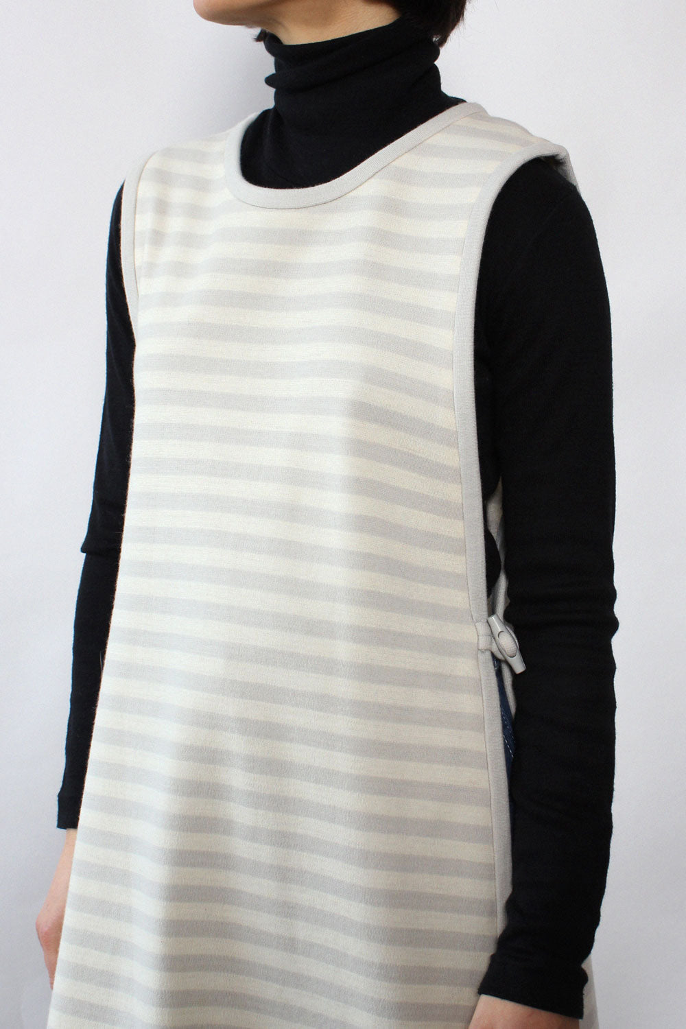 Heather Striped Tabard Dress S/M
