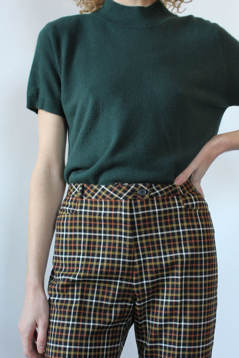 Tapered Plaid Pant S/M