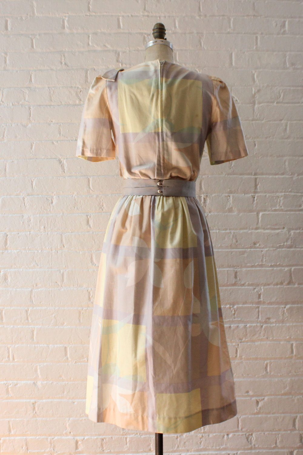 Pastel Overlay Cotton Dress S/M