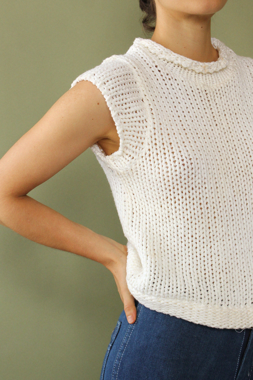 Sleeveless Cloud Sweater S-L