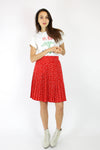 Polka Dot Pleat Skirt S