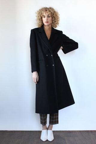 Hollywood Velvet Pile Maxi Coat S/M