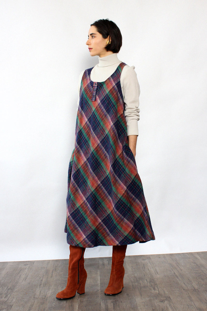 Chroma Plaid Tent Dress L