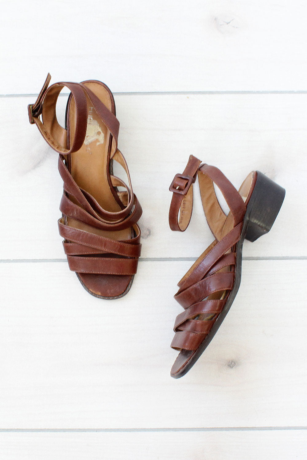 Strappy Leather Sandals 8 1/2