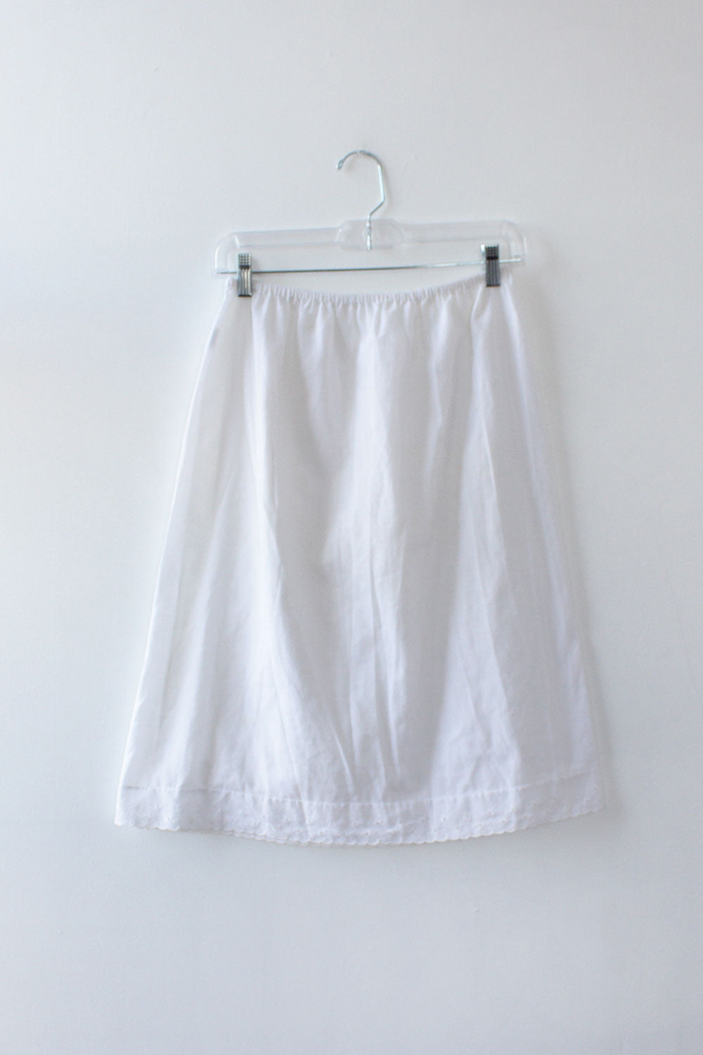 Eyelet Trim Slip Skirt M