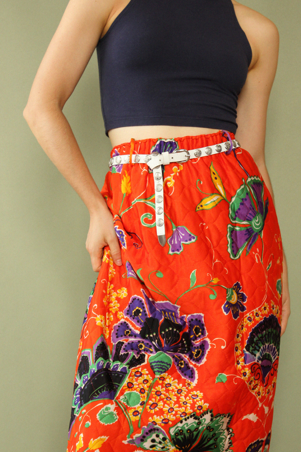Persimmon Quilted Skirt XS-M