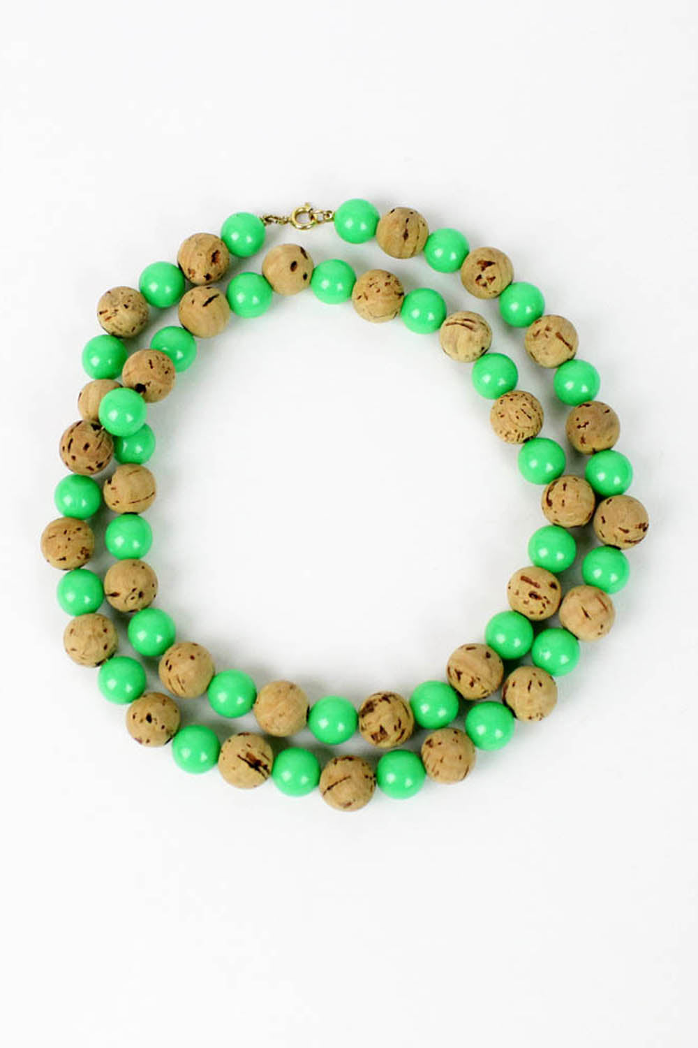 cork bead necklace
