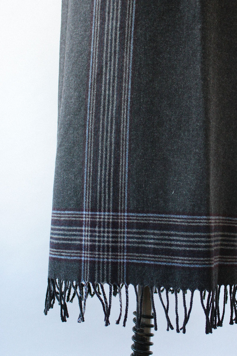 Charcoal Woolen Blanket Skirt S