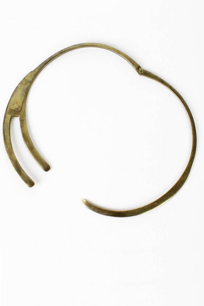 minimalist brass collar