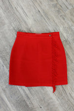 Benetton Scarlet Blanket Skirt M