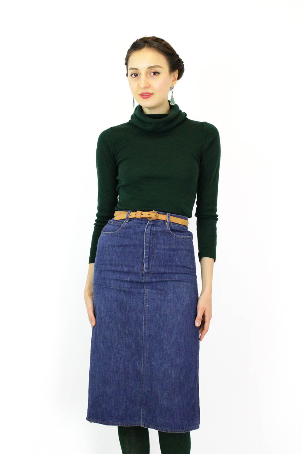 Pierre Cardin High Waist Denim Skirt XS