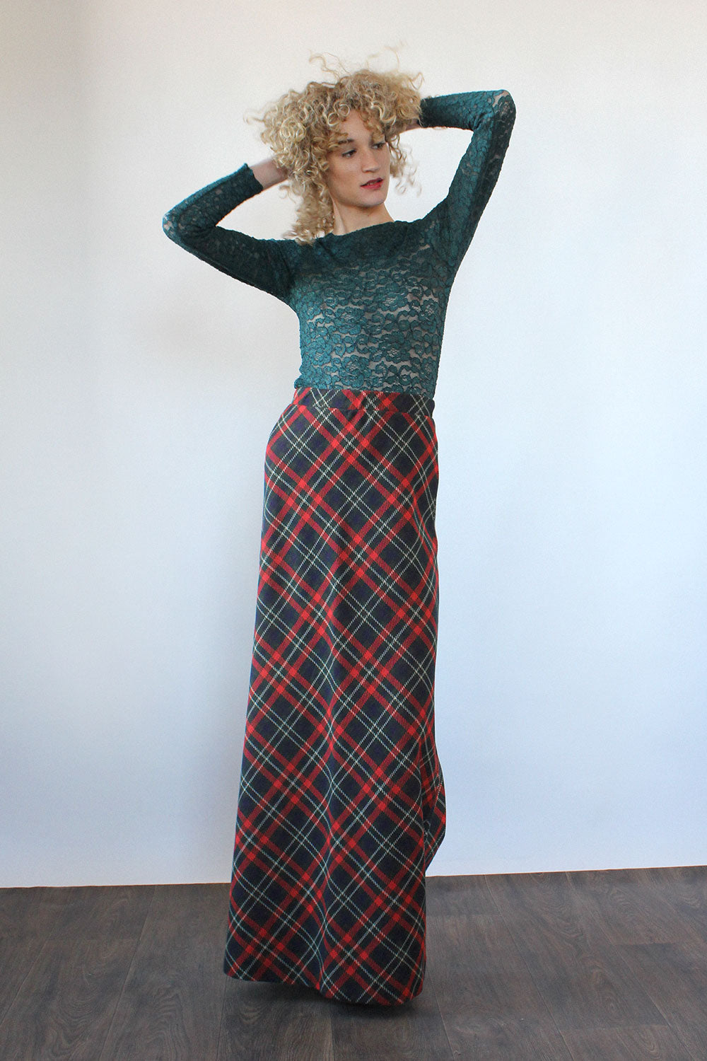 Austin Plaid Maxi Skirt XS-M