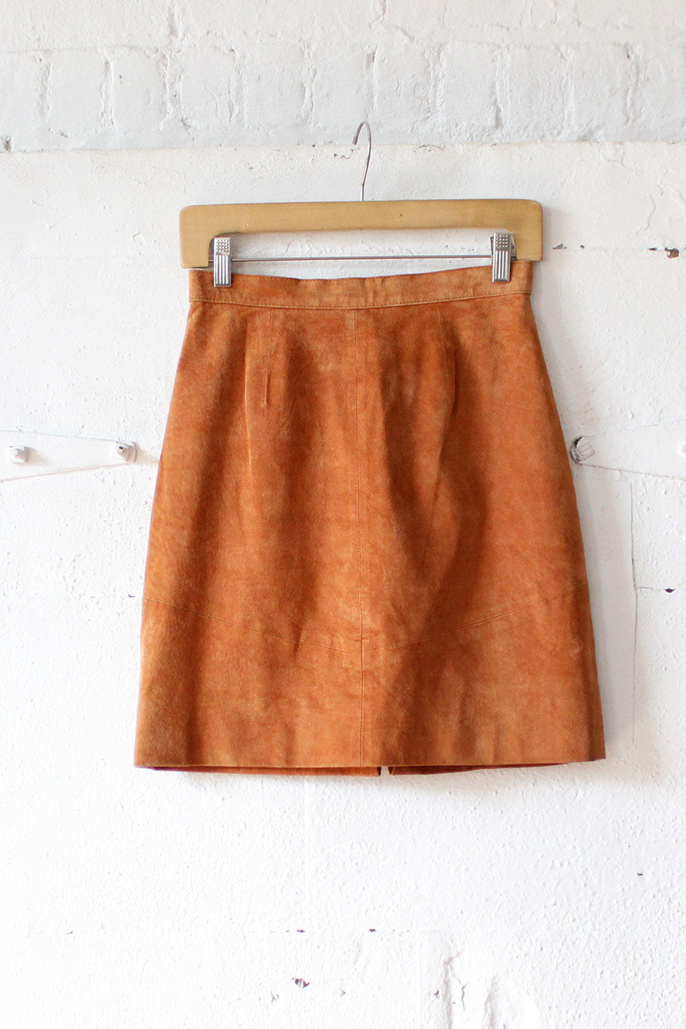 Pumpkin Suede Mini Skirt S