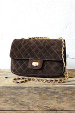 Quilted Suede Purse