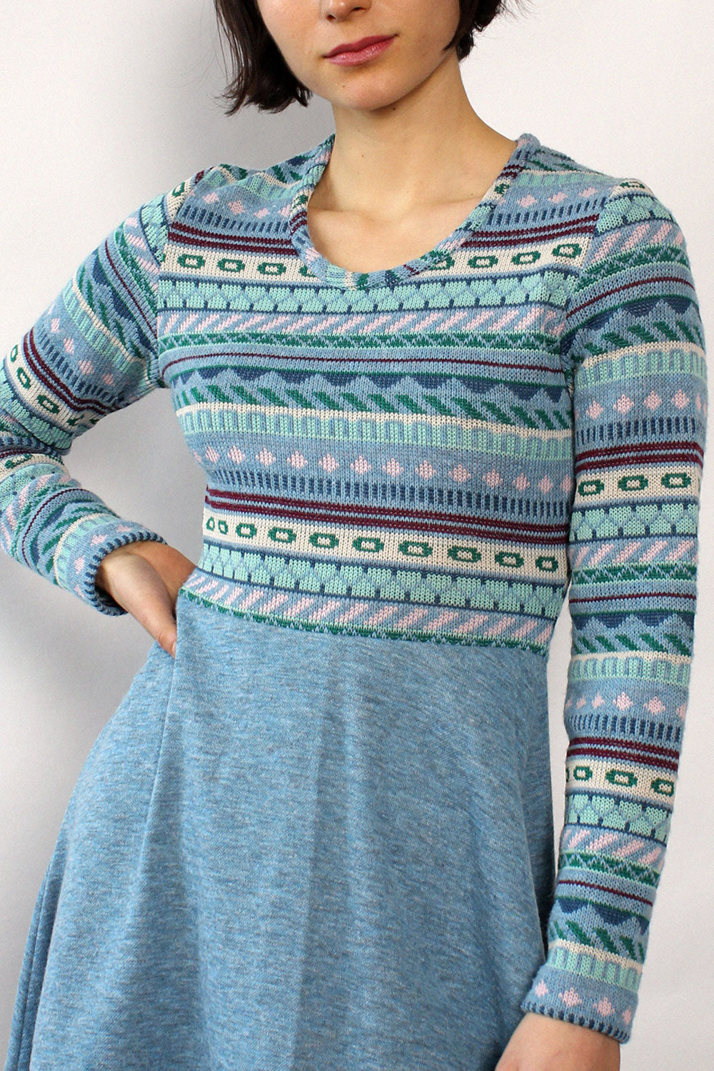 Vicky Fair Isle Sweaterdress S/M
