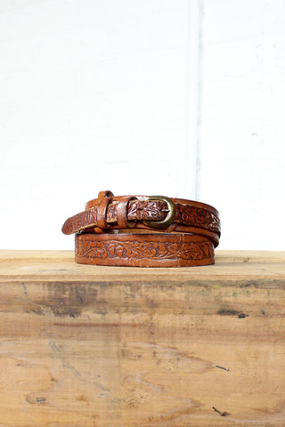 Long Winter Tooled Belt