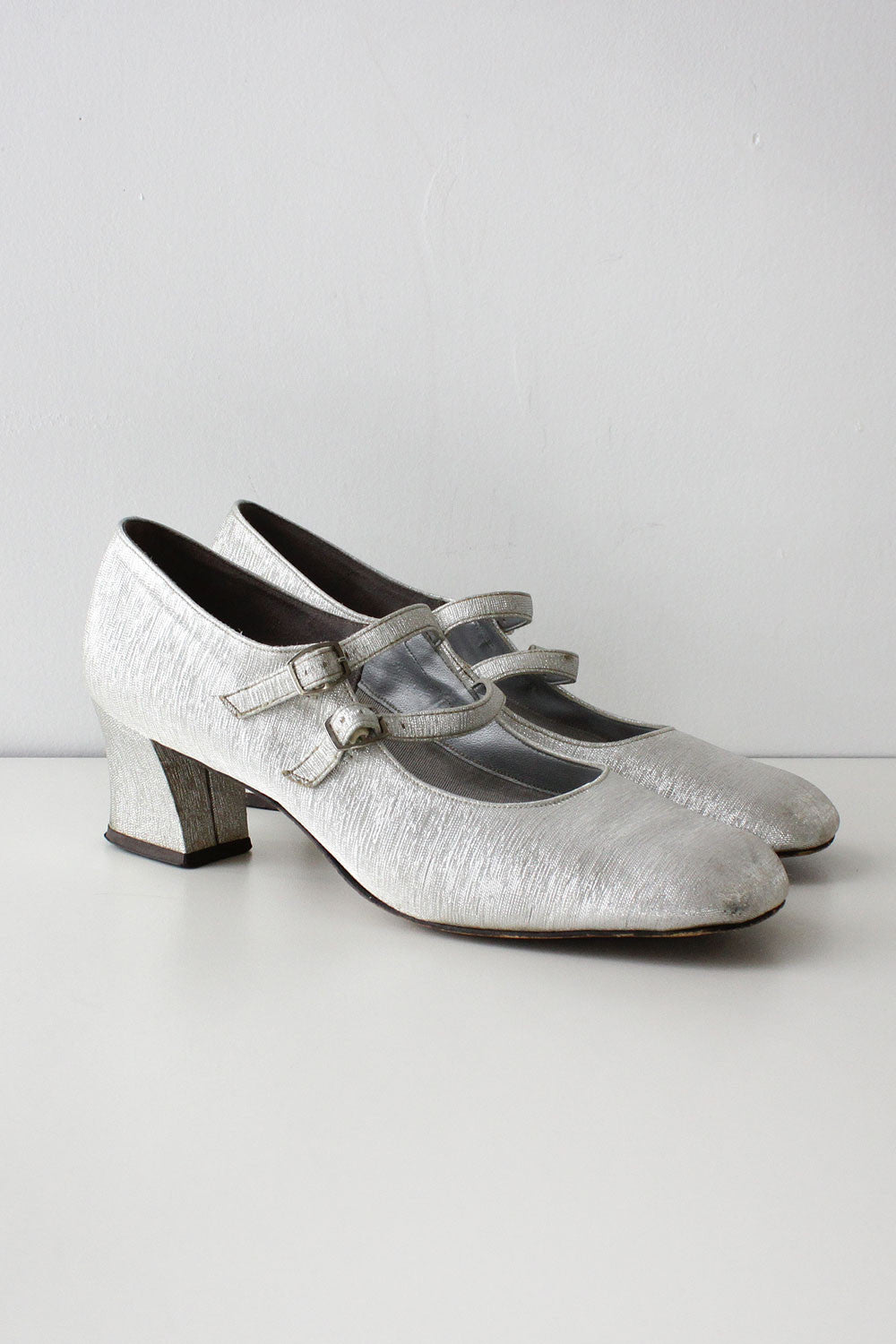 Coquette Metallic Mary Janes 8 1/2
